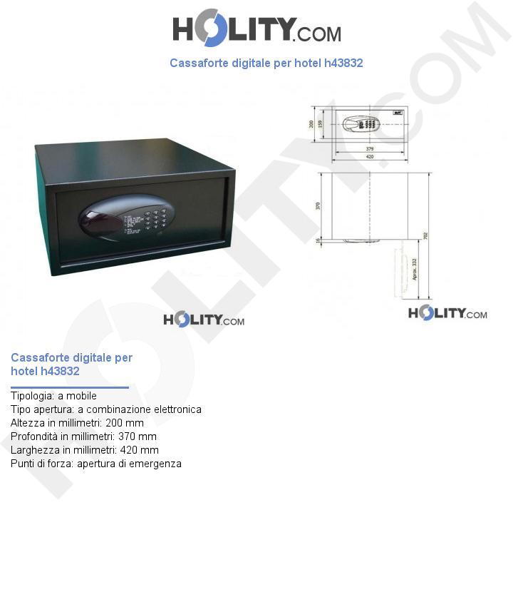 Cassaforte digitale per hotel h43832