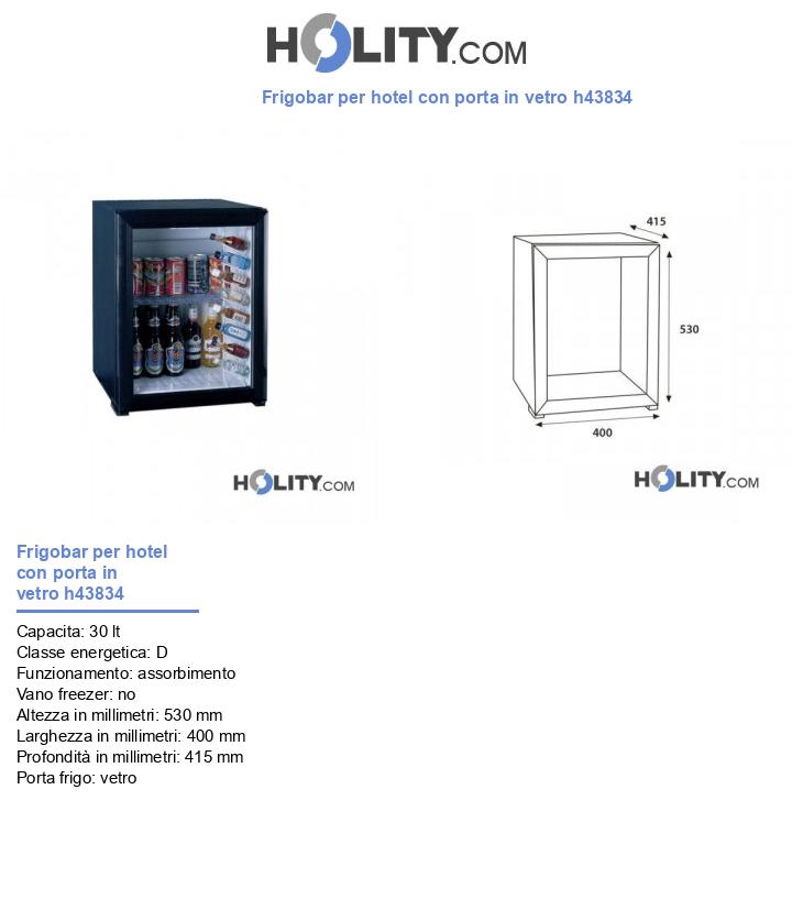 Frigobar per hotel con porta in vetro h43834
