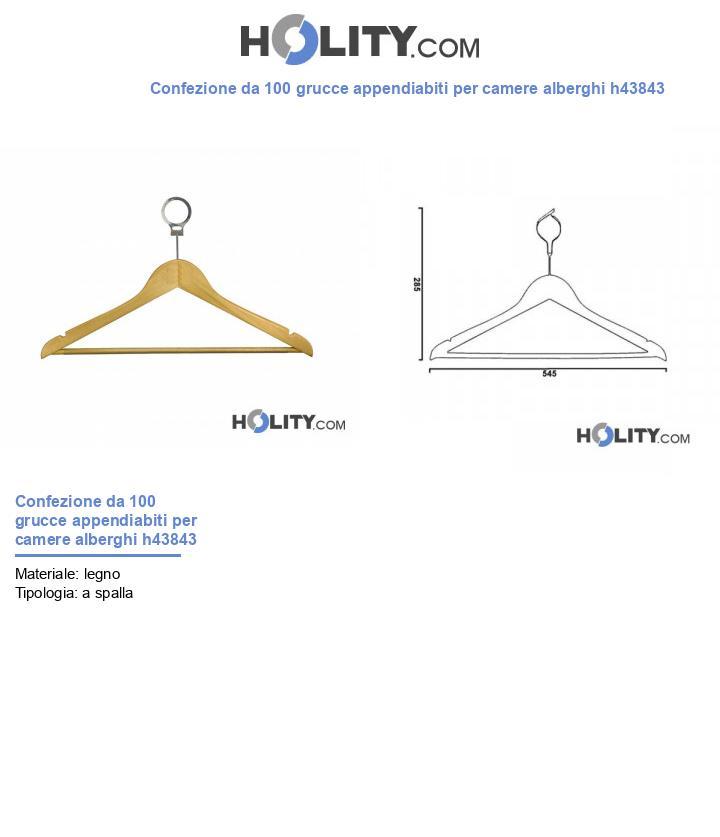 Gruccia appendiabiti per camere alberghi h43843