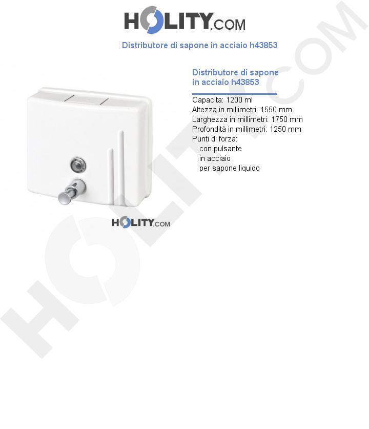 Distributore di sapone in acciaio h43853