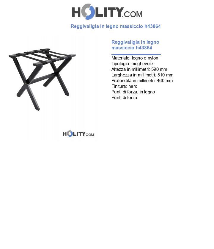Reggivaligia in legno massiccio h43864