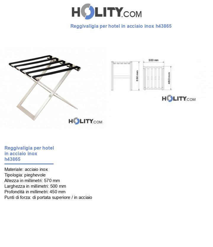 Reggivaligia per hotel in acciaio inox h43865