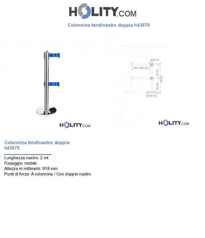 Colonnina tendinastro doppia h43870