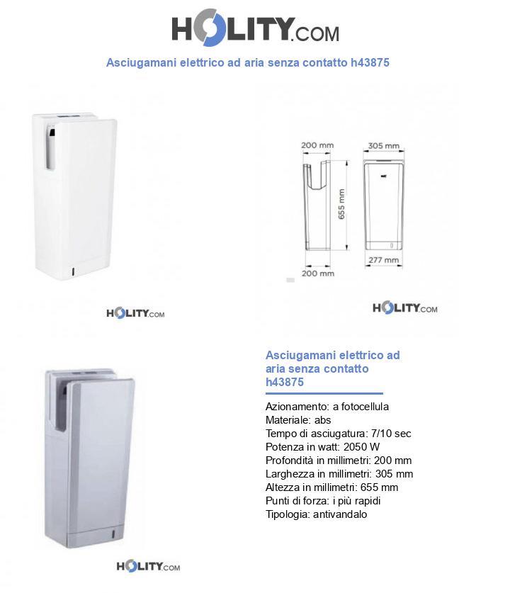Asciugamani elettrico ad aria senza contatto h43875