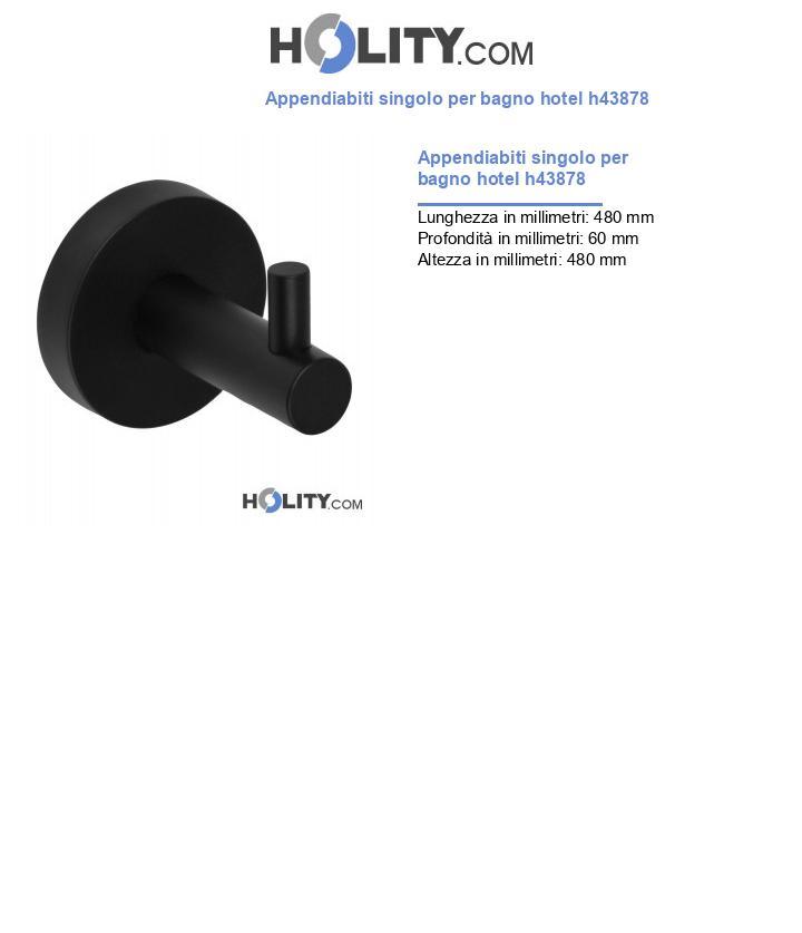 Appendiabiti singolo per bagno hotel h43878