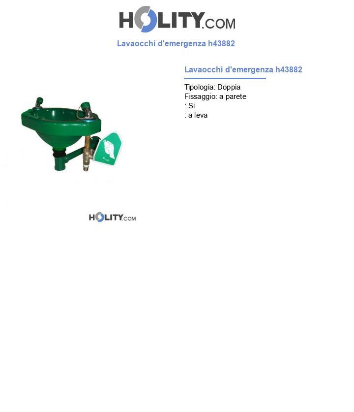 Lavaocchi d'emergenza h43882