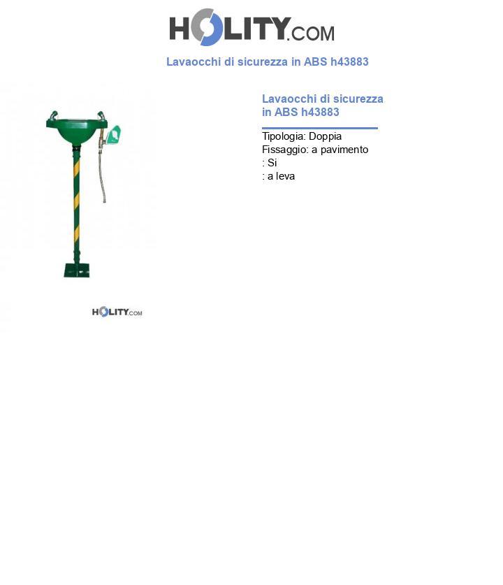 Lavaocchi di sicurezza in ABS h43883