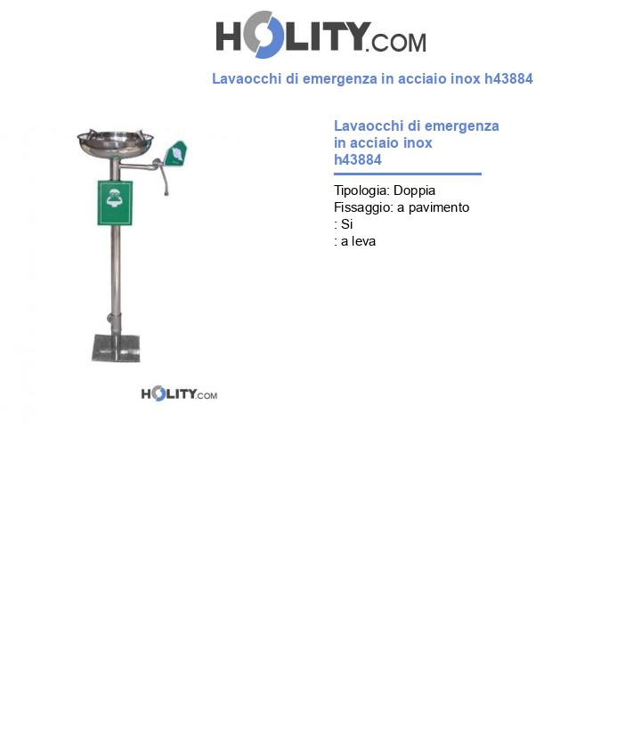 Lavaocchi di emergenza in acciaio inox h43884