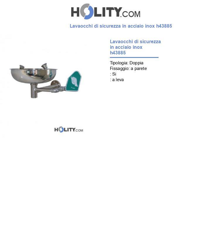 Lavaocchi di sicurezza in acciaio inox h43885