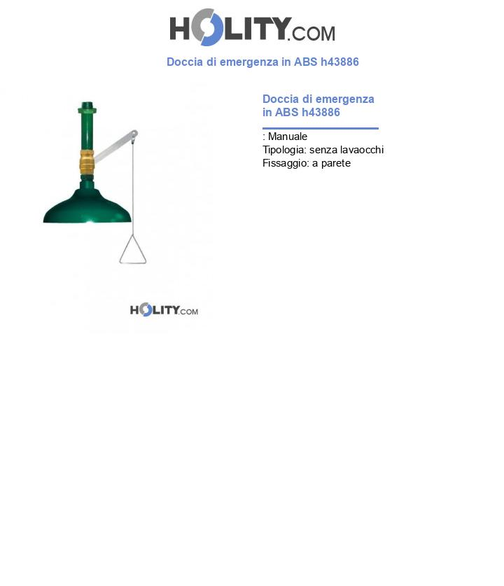 Doccia di emergenza in ABS h43886