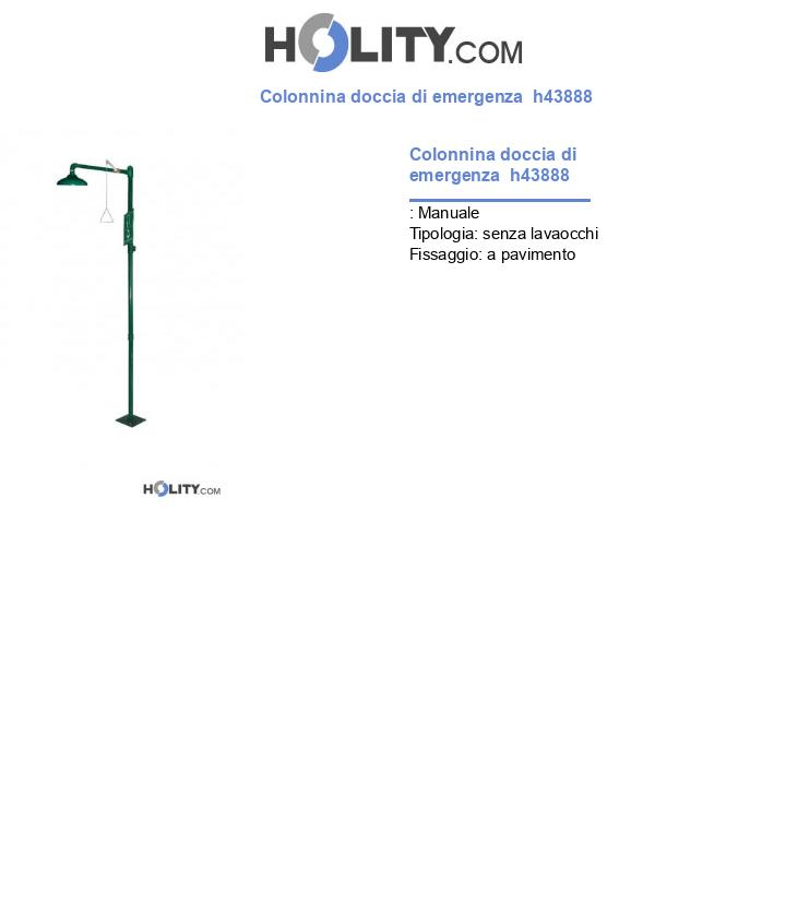 Colonnina doccia di emergenza  h43888