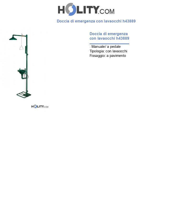 Doccia di emergenza con lavaocchi h43889