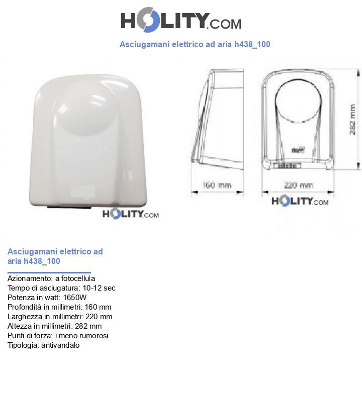 Asciugamani elettrico ad aria h438_100