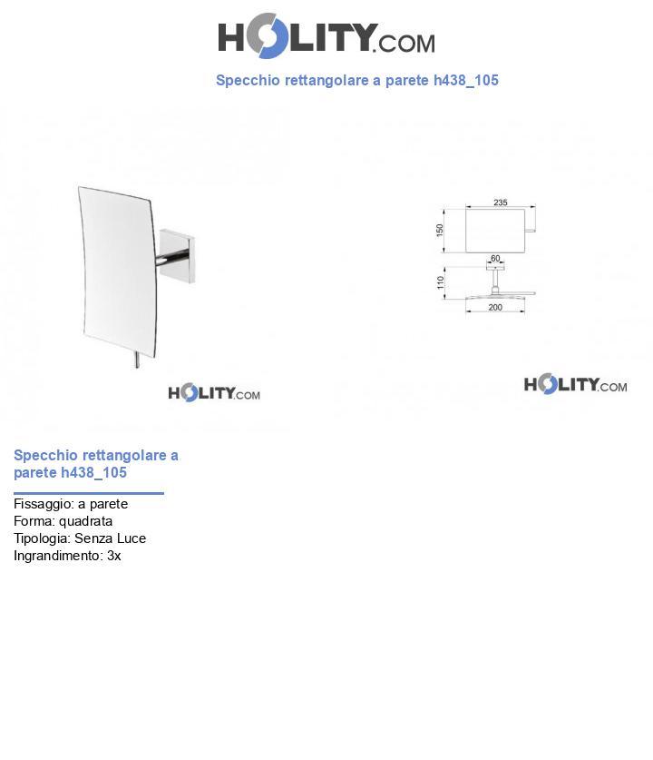 Specchio rettangolare a parete h438_105
