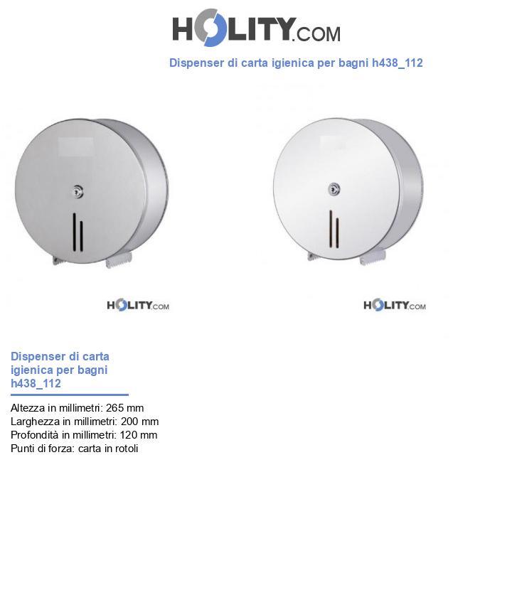 Dispenser di carta igienica per bagni h438_112