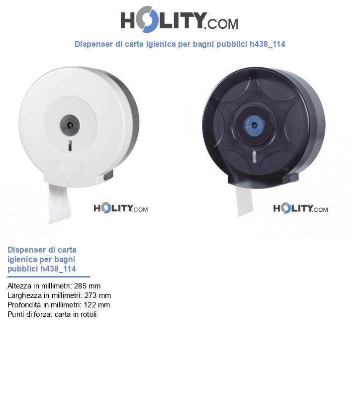 Dispenser di carta igienica per bagni pubblici h438_114