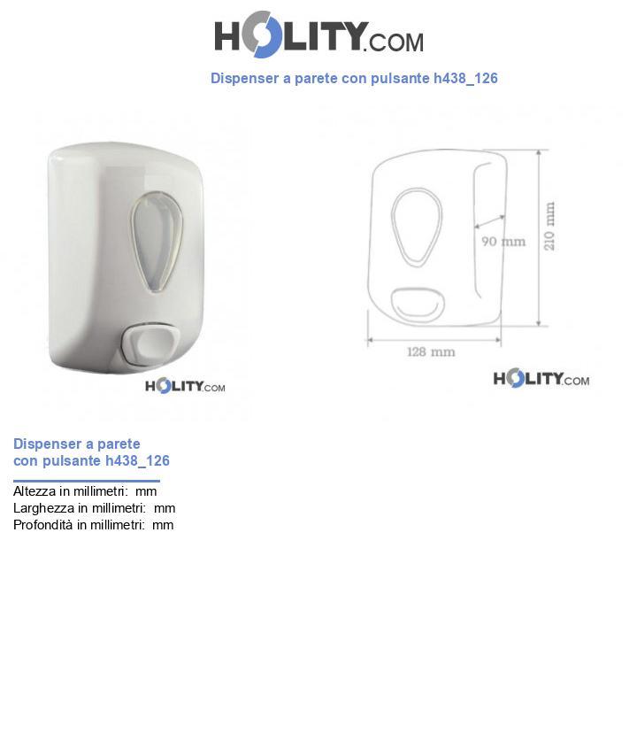 Dispenser a parete con pulsante h438_126
