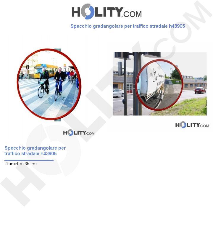 Specchio gradangolare per traffico stradale h43905
