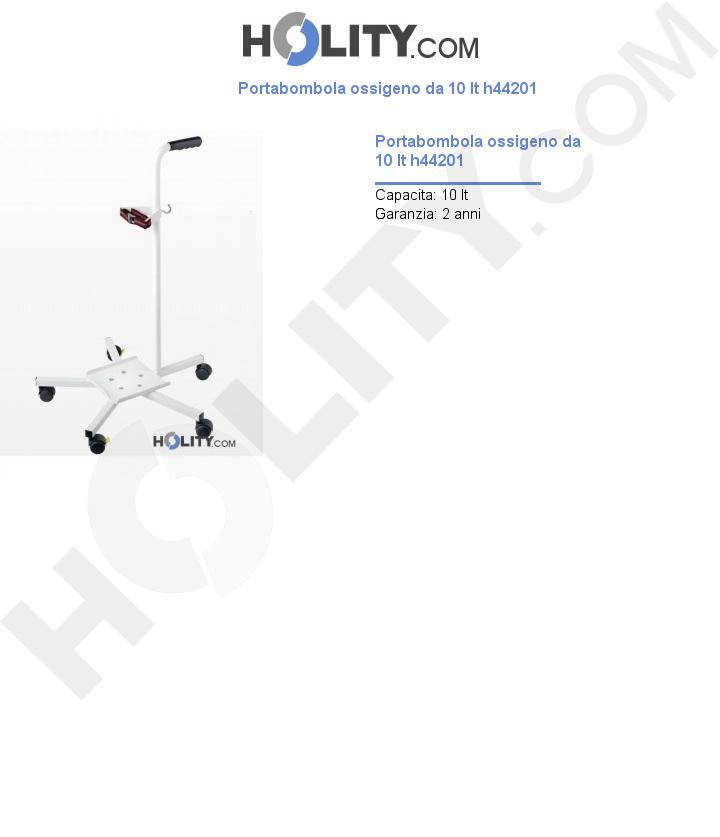 Portabombola ossigeno da 10 lt h44201