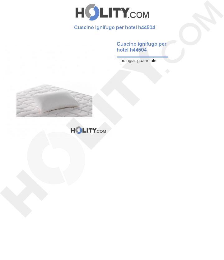 Cuscino ignifugo per hotel h44504