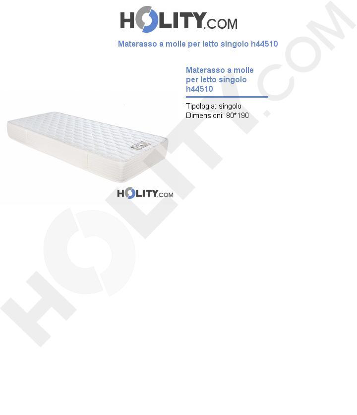 Materasso a molle per letto singolo h44510