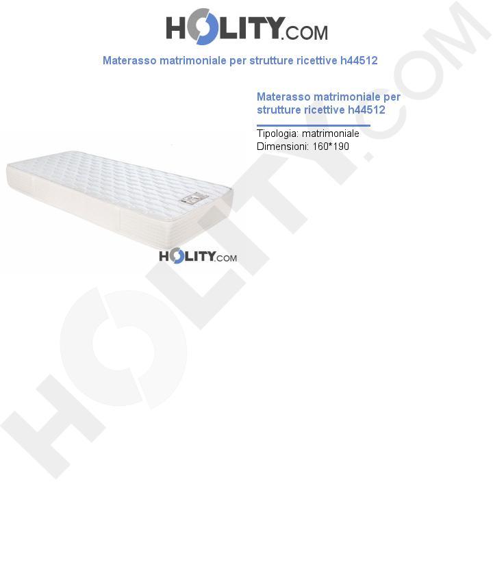 Materasso matrimoniale per strutture ricettive h44512