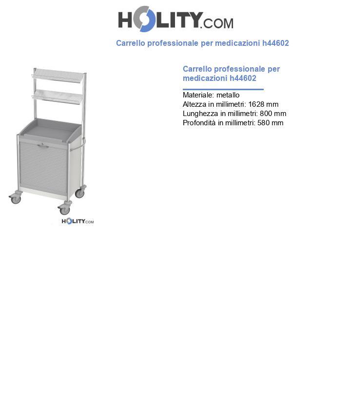 Carrello professionale per medicazioni h44602