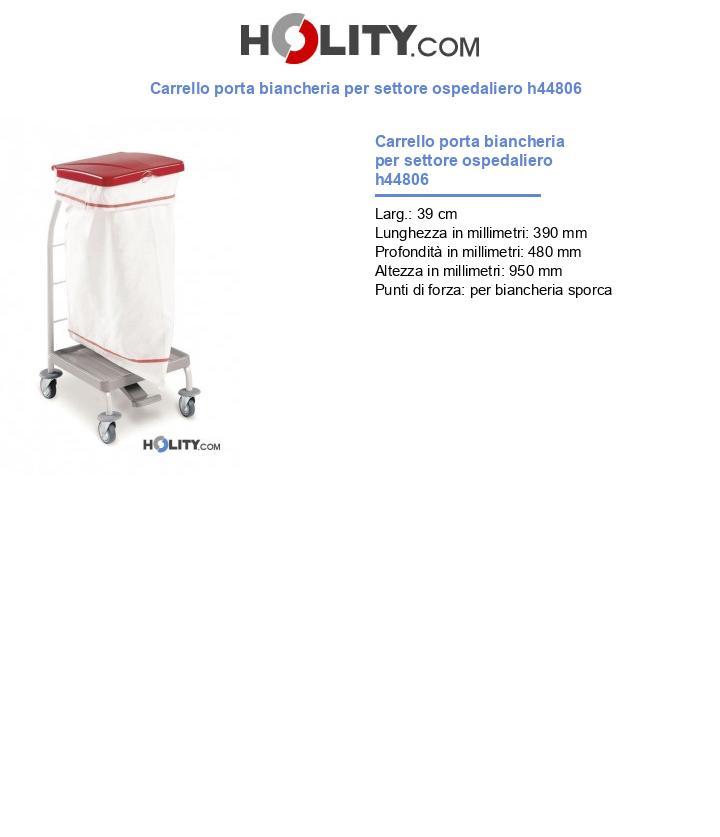 Carrello porta biancheria per settore ospedaliero h44806