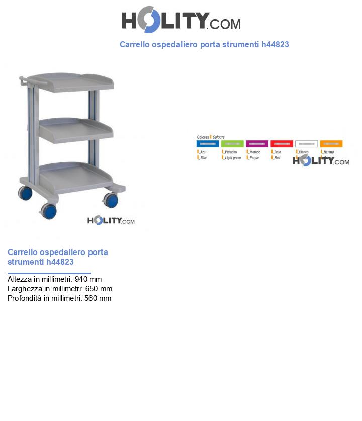 Carrello ospedaliero porta strumenti h44823