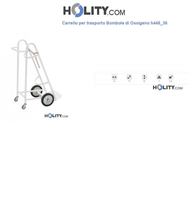 Carrello per trasporto Bombole di Ossigeno h448_36