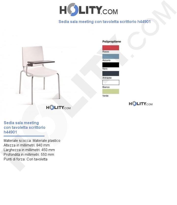 Sedia sala meeting con tavoletta scrittorio h44901