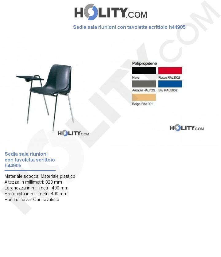 Sedia sala riunioni con tavoletta scrittoio h44905