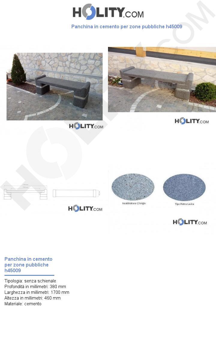 Panchina in cemento per zone pubbliche h45009