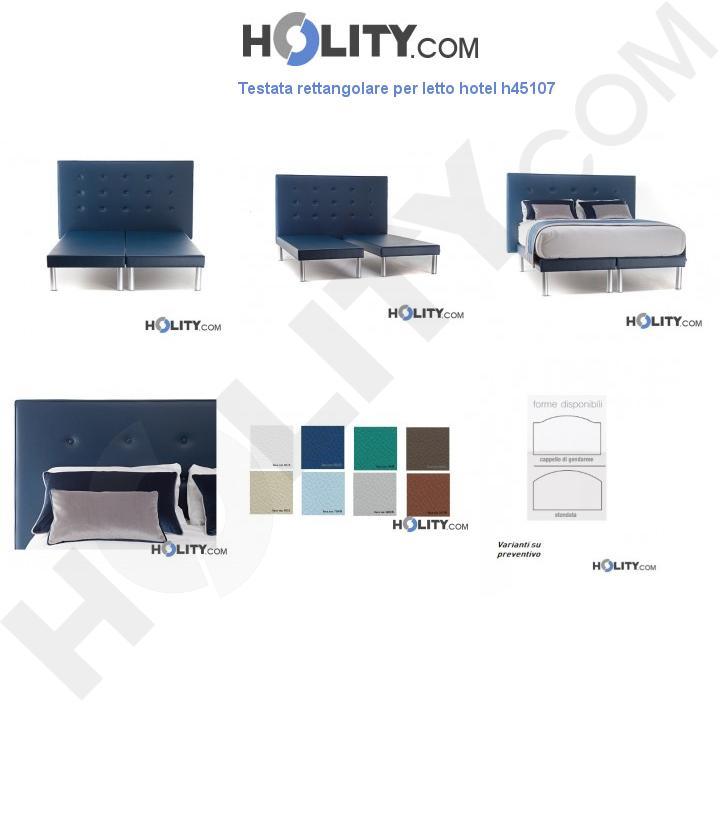 Testata rettangolare per letto hotel h45107