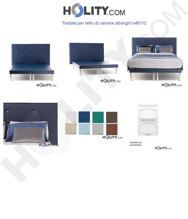 Testata per letto di camere alberghi h45112