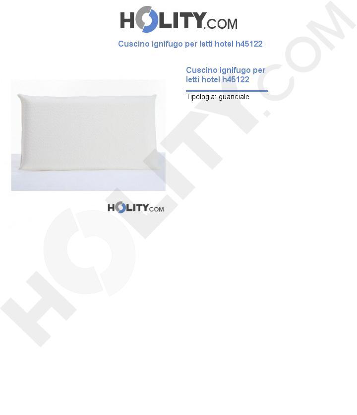 Cuscino ignifugo per letti hotel h45122