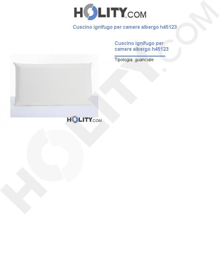 Cuscino ignifugo per camere albergo h45123