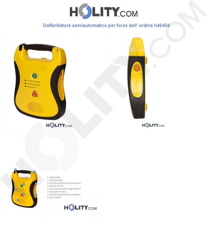 Defibrillatore semiautomatico per forze dell' ordine h45404