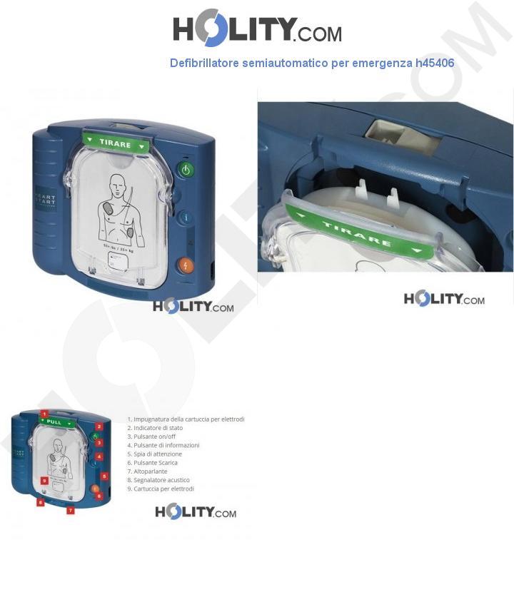 Defibrillatore semiautomatico per emergenza h45406