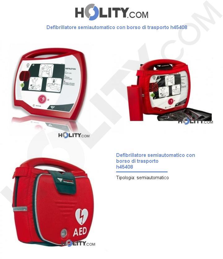 Defibrillatore semiautomatico con borsa da trasporto h45408