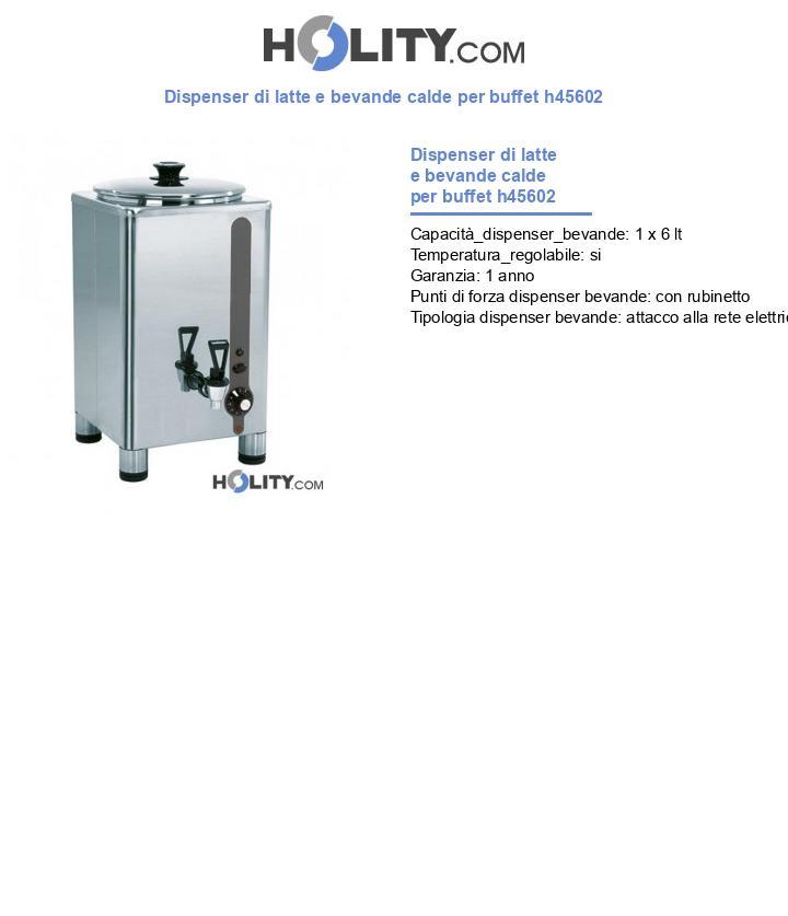 Dispenser di latte e bevande calde per buffet h45602