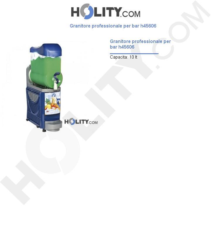 Granitore professionale per bar h45606