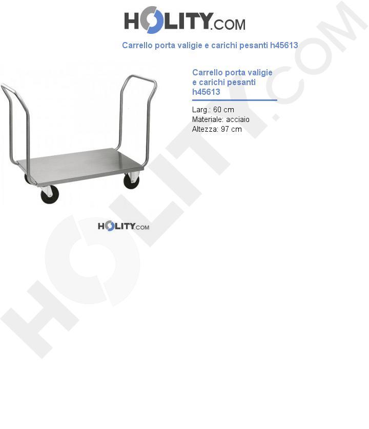 Carrello porta valigie e carichi pesanti h45613