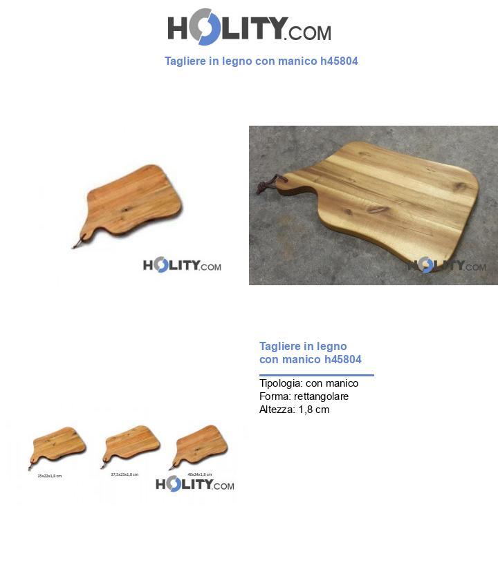 Tagliere in legno con manico h45804