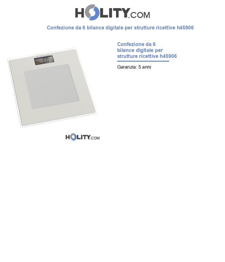 Bilancia digitale per strutture ricettive h45906