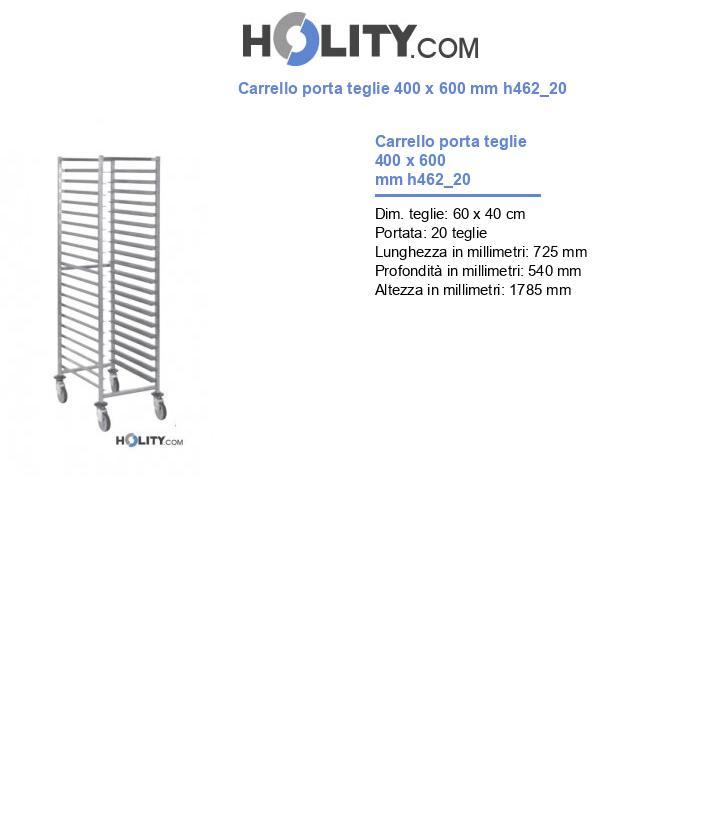 Carrello porta teglie 400 x 600 mm h462_20