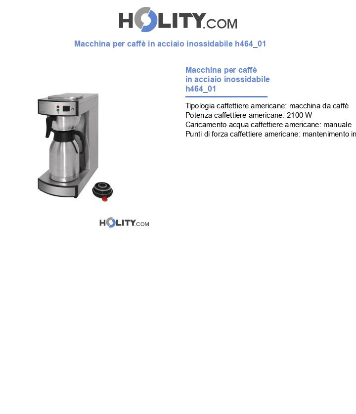 Macchina per caffè in acciaio inossidabile h464_01