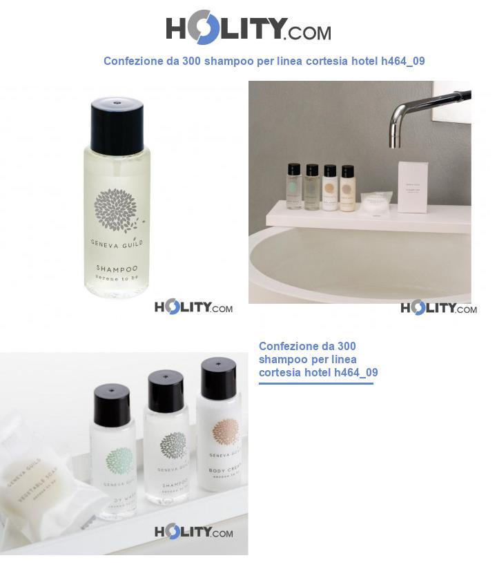 Shampoo per linea cortesia hotel h464_09