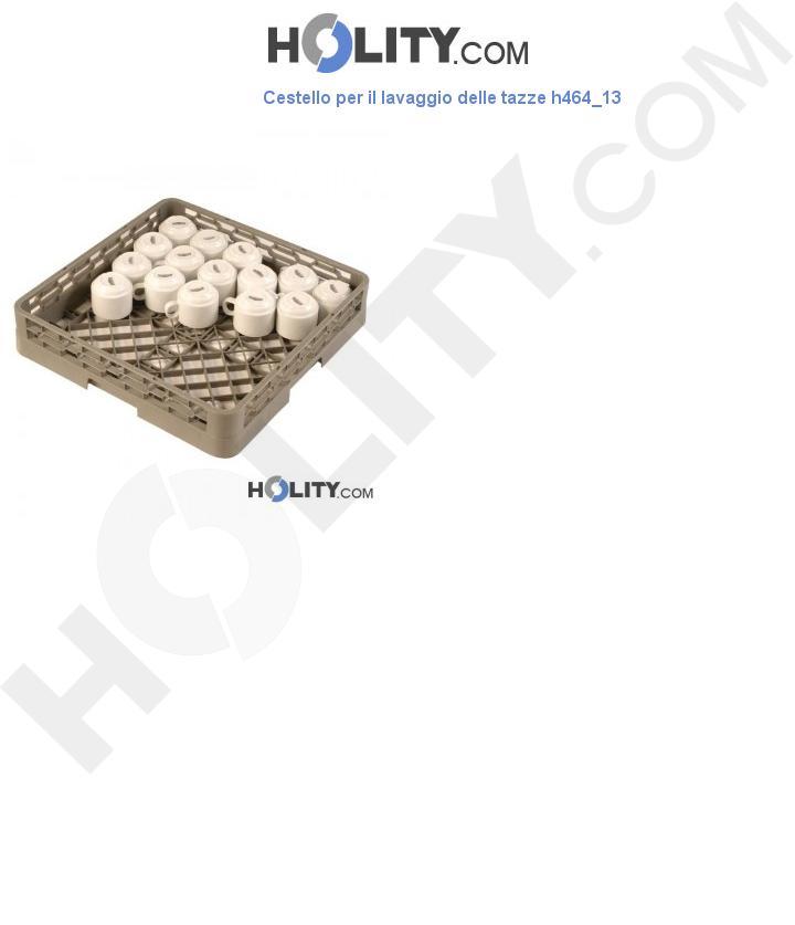 Cestello per il lavaggio delle tazze h464_13