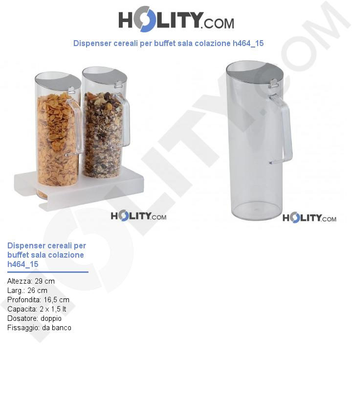 Dispenser cereali per buffet sala colazione h464_15